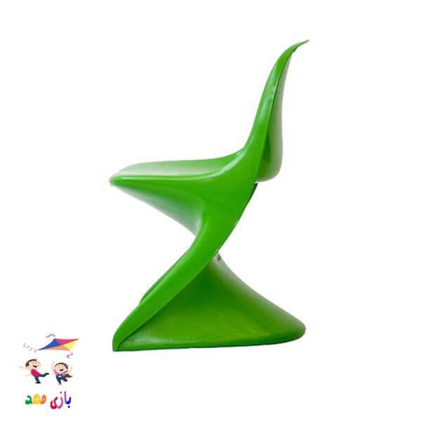 صندلی رامو سبز از بغل